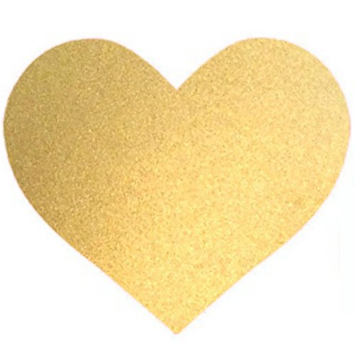 Heart Wallpaper - Bobee Gold Heart Dots Vinyl Wall Decals, 36-Count