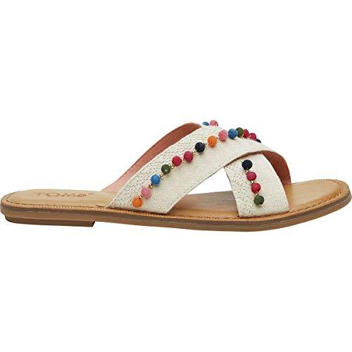 TOMS Womens Viv Casual Lifestyle Shoe, Natural Hemp Pom, 9.5 B(M) US -