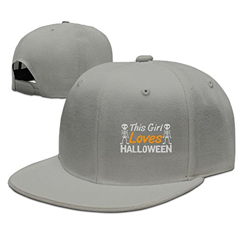 Runy Custom This Girl Loves Halloween Adjustable Baseball Hat & Cap Ash