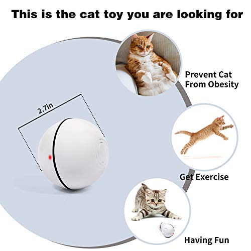 Smart Interactive Cat Toy Self Rotating Ball, 6