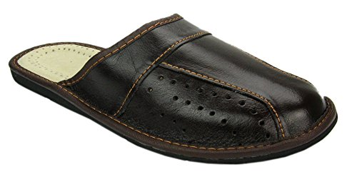 Mens House Slippers Genuine Leather product image