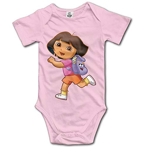 Dora The Explorer Fleece Fabric - ZZHZMH Dora Explorer Baby Girls/Boys Short Sleeve Onesies Pink