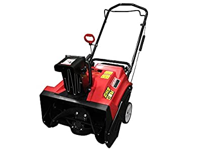 Warrior Tools WR67436 Gas Powered Single Stage Snow Thrower, 20-Inch, Red