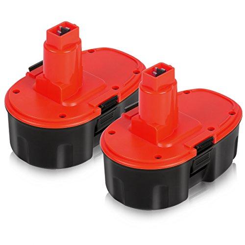 Enegitech Upgraded Dewalt 18V XRP 3.6Ah Battery Replace DC9096 DC9096-2 DE9039 DE9095 DE9096 DE9098 DW9095 DW9096 DW9098 DE9503 18-Volt Batteries - 2 Pack