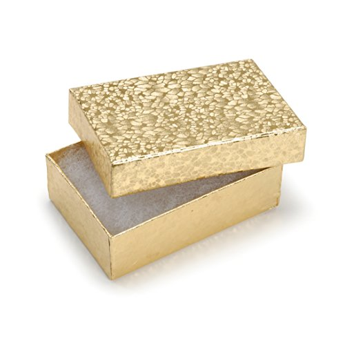 Darice Thick Cardboard Jewelry Organizer Box, Small, Gold, 6 Piece