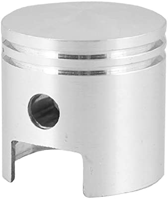 sourcingmap® Compresor de aire de pistón de Aleación de aluminio de 47mm x 48mm para Motor tono Plata