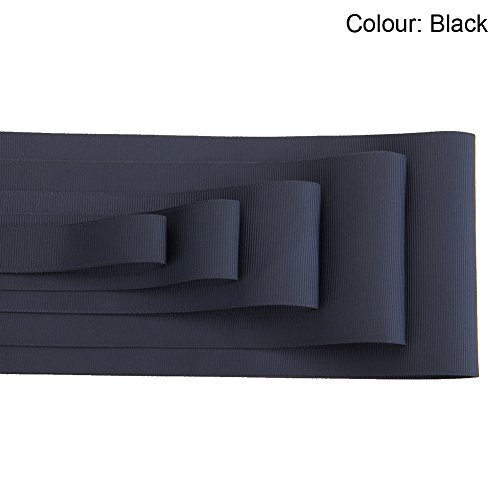 (Neotrims Wholesale 100 Yards Petersham Grosgrain Ribbon, Unique Wide Sizes 32, 50, 75 & 100mm. Great Budget price for Bulk Purchase from a UK Company. Finest Eco Friendly Standard.)