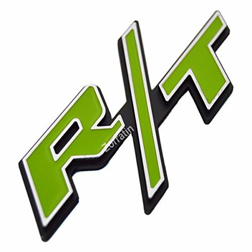 Zorratin Chrome Trim Green R T Rt Side Fender Trunk Emblem Badge W Sticker For Dodge Challenger Charger Avenger Srt