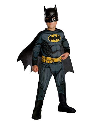 Rubie's Costume Boys DC Comics Batman Costume, Small, Multicolor (Best Kids Batman Costume)