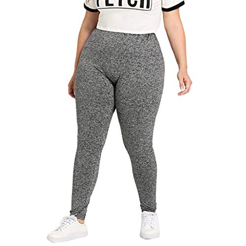 - CCatyam Plus Size Pants for Women, Yoga Trouser Sport Elastic Waist Loose Leggings Casual Fashion Gray