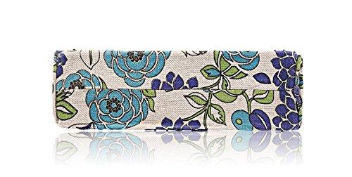 Big Spring Handbag Clutch Handbag Blue Flower Bag Embroidery Bag Tote Vintage Printing 2018 Flower 0dUxq5nd