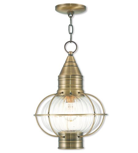 - Outdoor Wall Sconces 1 Light with Brass Tones Hand Blown Fluted Clear Glass 12 inch 100 Watts - World of Crystal