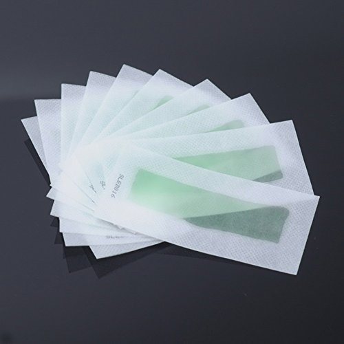 UHBGT Double Side Use Roll On Hair Remover Wax Strips Depilatory Wax Epilator Paper For Face Legs Hair Removal Cream 10pcs