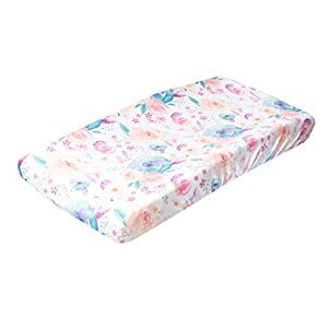 """Premium Knit Diaper Changing Pad Cover""""Bloom"""" by Copper Pearl"""