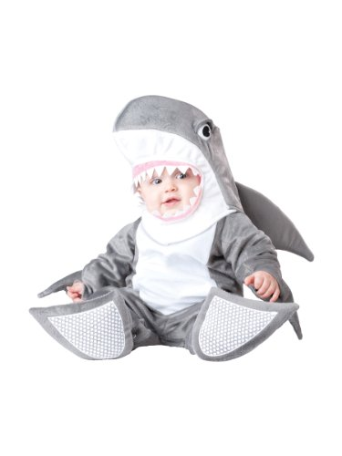 InCharacter Costumes Baby's Silly Shark Costume, Grey/White, Small (6-12 Months)