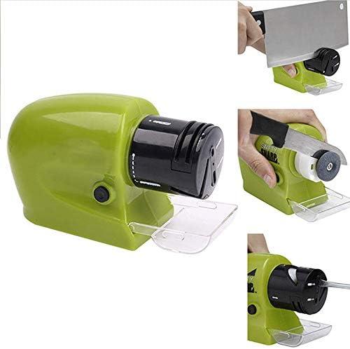 電動ナイフ研ぎ器、キッチンナイフに適した多機能電動ナイフ刃研ぎグラインダーはさみホームツールグリーン