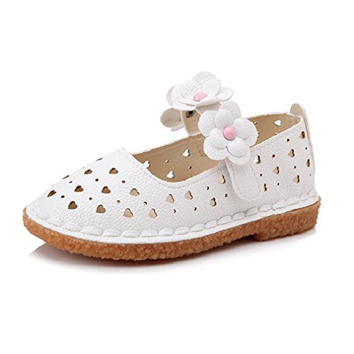 CYBLING Toddler Little Girls Floral Mary Jane Shoes Comfort Non-slip Princess Sneakers for Walking