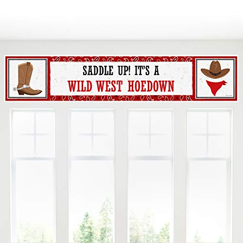 Custom Made Party Banners (Big Dot of Happiness Personalized Western Hoedown - Custom Wild West Cowboy Party Decorations Party)