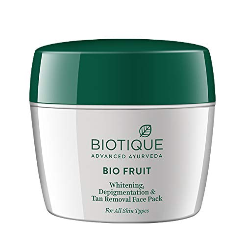 Biotique Bio Fruit Whitening & Depigmentation Face Pack -Face Pack For Tan Removal And Glowing Skin