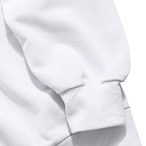 Tops Sportivo Patchwork Felpa Zaful amp;bianco Nero Manica Hoodie Abbigliamento A a Uomo Lunga Streetwear BTvXqwxp