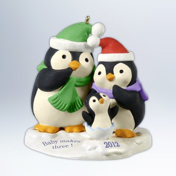 Hallmark 2012 Baby Makes Three Keepsake Ornament