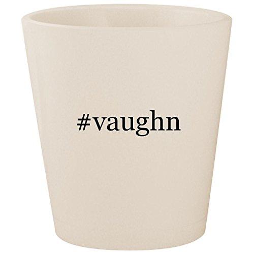 #vaughn - White Hashtag Ceramic 1.5oz Shot Glass