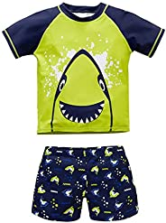 Boys' 2 Pieces Cartoon Swimsuits Swim Trunks UPF 50+ Sun Protection Swimwear for Tod