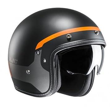 HJC Moto Casco FG de 70s modik mc7sf, Negro/Naranja, tamaño XS