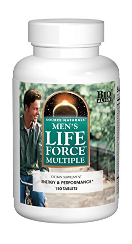 Source Naturals Men's Life Force Multiple Daily Multivitamin & Immune Health Supplement - 13 Essential Vitamins, Nutrients & Minerals - 180 -