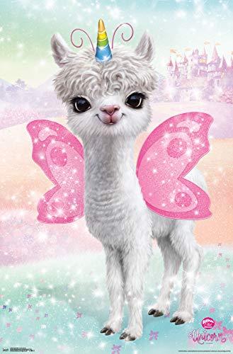 Trends International Animal Club-Llama Unicorn Clip Bundle Wall Poster 22.375
