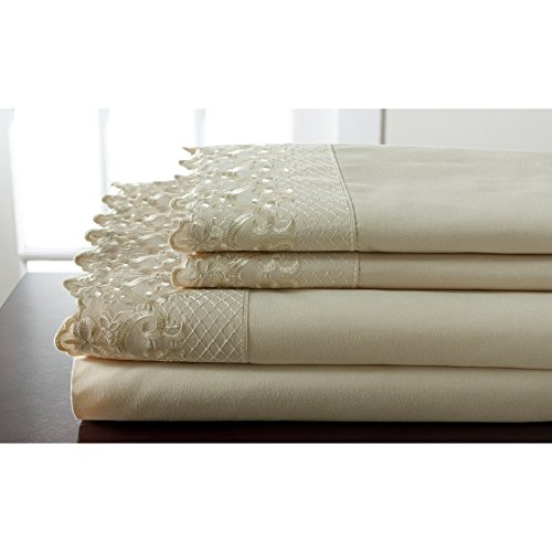 Elite Home Products, Inc. Hotel Lace Microfiber Sheet Set Spa 3 Piece Twin by Elite Home Products, Inc. (Image #3)