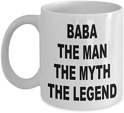 The Best Dad Gift Ideas from Daughters or Sons are Novelty Coffee Mugs. Surprise Your Father with a Coffee Cup Personalized with Dad in Turkish or Persian, Farsi. BABA The Man The Myth The Legend. (Best Gift For Bengali)