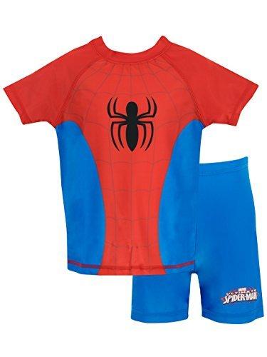 Spiderman Boys' Spider-Man Two Piece Swim Set 4 (Swimsuit Spiderman)