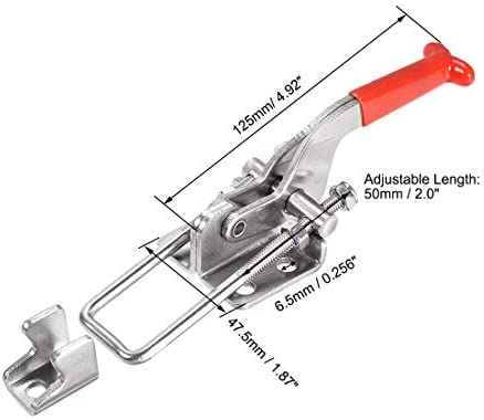 uxcell 調整可能なラッチ クイックリリーストグルクランプ Uボルト 垂直クランプフック SUS304ステンレス鋼 771ポンド 1個