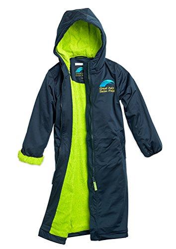 Great Aussie Swim Parkas (Swim Robe/Swim Jacket (Youth 10, Navy/Green) ...