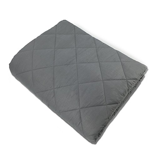 Hypnoser Weighted Blanket 2.0 for Kids and Adults | Dark Grey,48''x72''-15 lbs for 100-150 lbs Individual, Fits Twin Full Size Beds | Good for Anxiety,Insomnia, Relief Stress,ADHD, Autism, OCD and SPD by Hypnoser