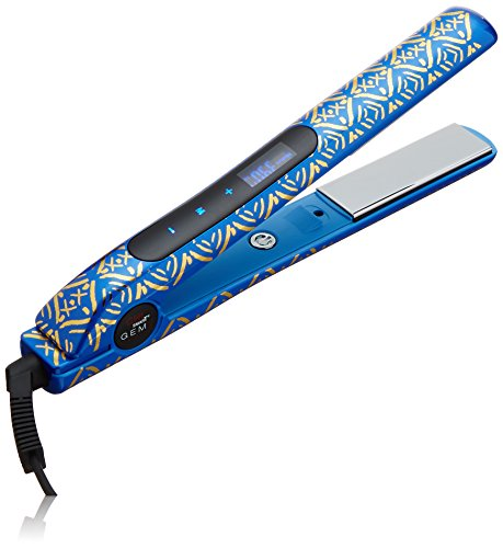 CHI Smart Gemz Volumizing Zironium Titanium Hairstyling Iron With Clips and Bag, Cobalt Blue Metallic by CHI (Image #3)