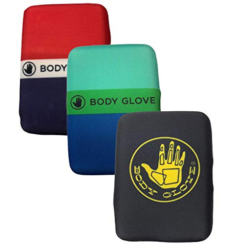 Men's Body Glove RFID Blocking Water Resistant Neoprene Wallet- Surfing/Beach Hard Shell/Soft Cover (Variety pack of 3)