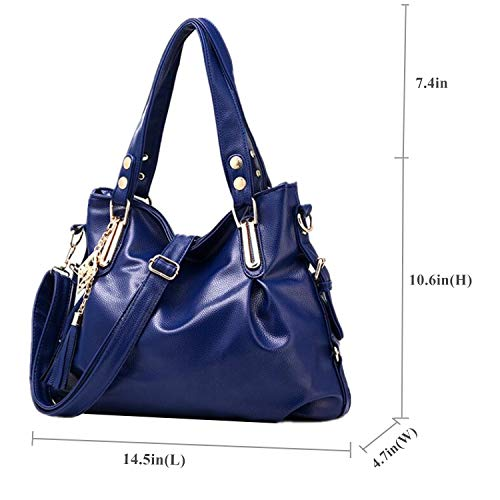 29fe3bbcf9a7 DDQYSAT Women Handbags Fashion PU Leather shoulder bag Casual Ladies Tote  bag Satchel Shopper Bags