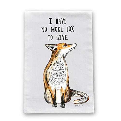 No More Fox Flour Sack Cotton Dish Towel by Pithitude