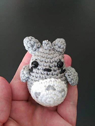 Totoro amigurumi, llavero totoro, mini totoro, mi amigo ...