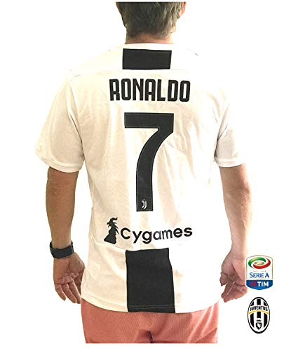 54a273c9e Juventus FC 2018-19 Home Fan Soccer Jersey for Men with - Import It ...