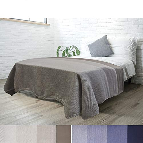 (PAVILIA Flannel Fleece Ombre Throw Blanket for Couch | Super Soft Cozy Microfiber Couch Bed Blanket | Gradient Decorative Accent Throw | All Season, 60x80 Inches Taupe)