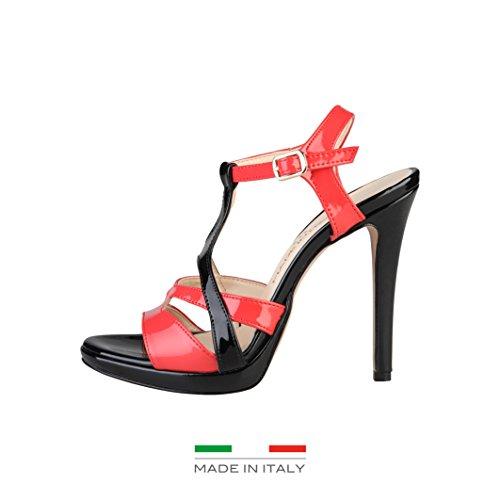 Made in Italia - IOLANDA Sandales Femme Talon: 10 cm, Plateau 1 cm