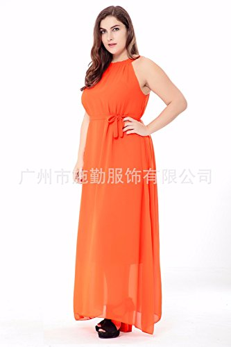 Vestiti Donna Estate Beach Boemia Di Chiffon Vestito grandi Summer Orange Sfsyddy Dimensioni primavera traspirante Da Un Gonna v0XxdHqW