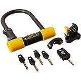 OnGuard Bulldog Mini DT U-Lock with 4-Inch Cinch Loop Cable (Black, 3.55 x 5.52-Inch)