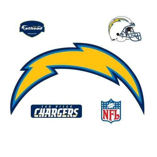 San Diego Chargers Decals: Fathead San Diego Chargers Logo Wall Decal : San Diego