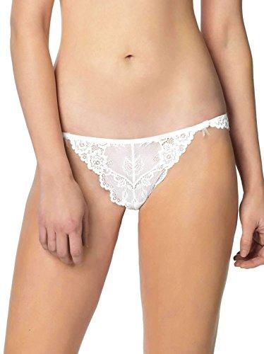 Jezebel Women's Caress Too Thong, White, Medium
