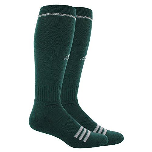 adidas Unisex Rivalry Baseball 2-Pack Otc sock, Forest Green/White, Large (Adidas Football Socks compare prices)