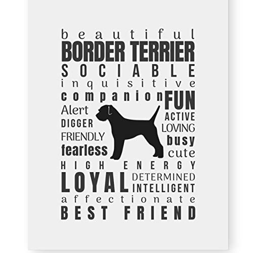 Border Terrier Dog Gift - Pawsome Designs Border Terrier Gifts Dog Art Quote Print Decor (8x10 Unframed) Perfect Dog Lover Gifts Border Terrier Mom